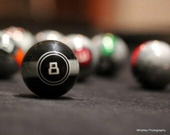 8 ball photo,  game room decor, pool photo, eight ball art, Billiards decor, pool photo, billiards photo, sports decor, man cave decor