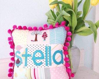 Custom Patchwork Name Pillows