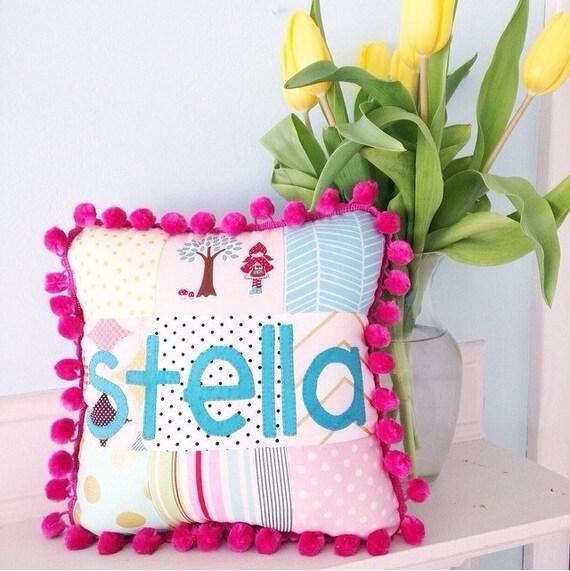 Custom Patchwork Name Pillows