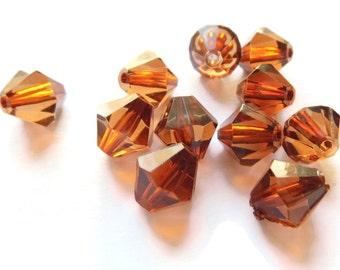 11 12mm Brown Bicone Beads Plastic Beads