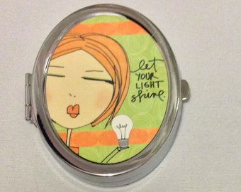 Compact Mirror - Let your Light Shine