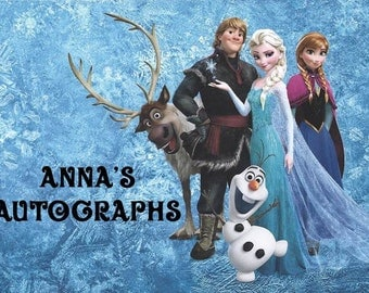 Personalized Disney Frozen Autograph Book