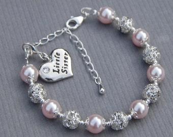Little Sister Gift, Little Sister Jewelry, Little Sister Charm Bracelet, Gift for Sister, Sibling Gift Ideas, Trending Items