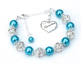 Grandma Jewelry, Grandma Gift, Grandma Charm Bracelet, Grandma Gift Ideas, Trending Items, Grandmother Bracelet, New Grandma Gift,