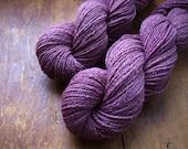 Natural Yarn, Maine Raised Alpaca/Silk/ CVM Romeldale Blend (60/20/20),  Sport Weight, 270 Yards, Dahlia