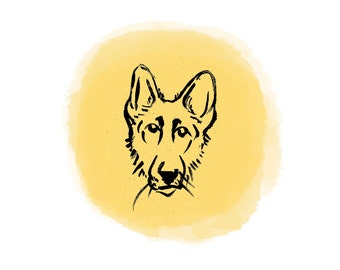 German Shepherd Dog Print
