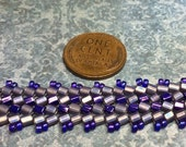 Herringbone Woven Bracelet in purples