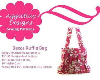 INSTANT DOWNLOAD PDF Tutorial Sewing Pattern Handbag Purse:  Becca Bag