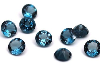 8mm London Blue Topaz Faceted Round - 1 piece