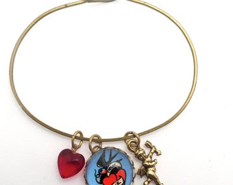 True Love, Cupid Charm, Red Heart Bead Valentine or Any Time