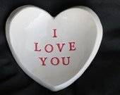 I Love You Heart shaped trinket/ring dish-Valentine's Day gift ready to ship