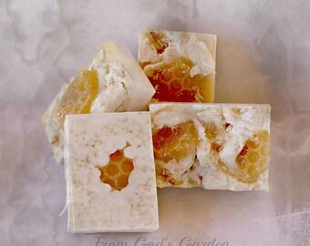 Oatmeal, Milk & Fresh Honey soap Handmade