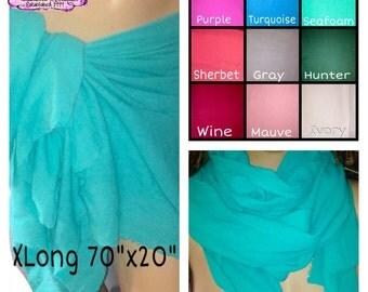 Cotton Gauze Sarong,Cotton Sarong, lightweight sarong,sea foam green sarong,Hair wrap,Straight Scarf or Nursing Wrap, handmade One of a Kind
