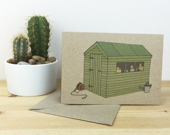 garden shed card (100% recycled)