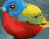 Original painting of Painted Bunting