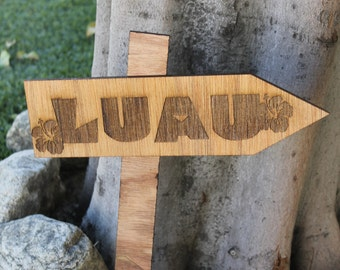 Wooden Luau Sign, Custom Engraved Wooden Sign, Wooden Sign, Personalized Wooden Sign