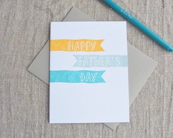 Letterpress Greeting Card - Father's Day - Cheery Banners - 303-104