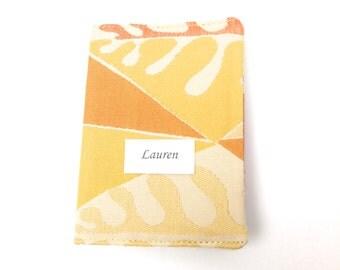 Passport Cover, Personalized Passport Sleeve, Gift Idea, Travel Case, Travel, Yellow Tones