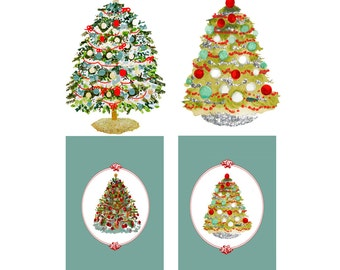 Christmas Tree Love 4 designs JPEG file instant download