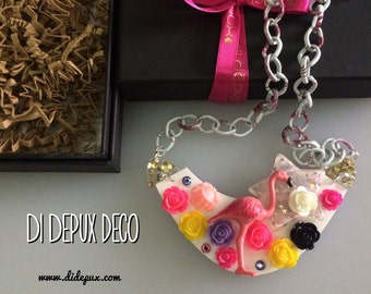 Sale! FLAMINGO deco Necklace one and only!
