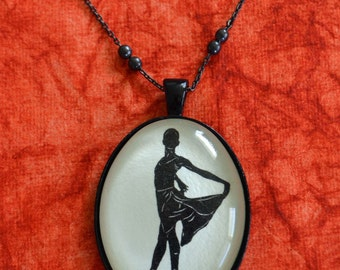 Sale 20% Off // WENDY WHELAN Necklace, pendant on chain - Silhouette Jewelry // Coupon Code SALE20