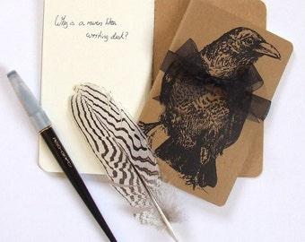 Raven Moleskine Notebook