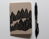 Small Printed Notebook | Tree Pattern | Illustrated Notebook | Gift for Writer | First Anniversary | Pocket Notebook