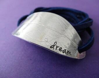 Dream Bracelet - Leaf Wrap Bracelet - Dream Leaf Imprint Bracelet - Nature Inspired Jewelry