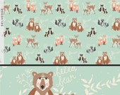Hello Bear fabric by Bonnie Christine for Art Gallery Fabric, Mint Green fabric, Deer fabric, Bear fabric, Nursery Decor- Oh Hello in Meadow