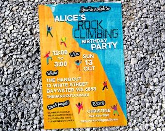Rock Climbing Invitation, Rock Climbing Part, Rock Climbing Birthday, Rock Climbing Invite - Printable Digital File