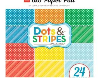 Echo Park Dots & Stripes Summer 8x8 Paper Pad