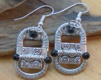 Ann-Made Pop Top Earrings - Silver Thyme