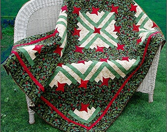 Friendship Log Cabin Quilt Pattern PDF #413e