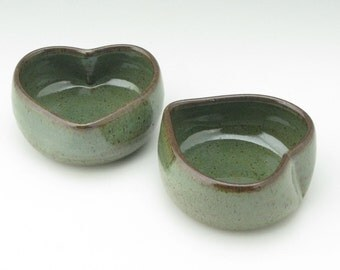 Petite Sweet Sauce or Condiment Bowl Ready to Ship, One Handmade Pottery 4-inch Candy or Nut Bowl, Handmade Ceramic 10 oz Bowl in Sage Green