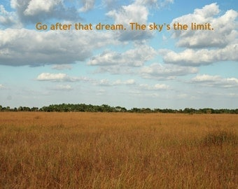 The Sky's the Limit -- set of 3 greeting cards -- 5x7 -- with envelope -- inside blank