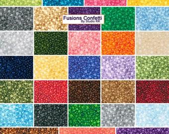 "Robert Kaufman FUSIONS CONFETTI Precut 5"" Charm Pack Fabric Quilting Cotton Squares CHS-325-42"