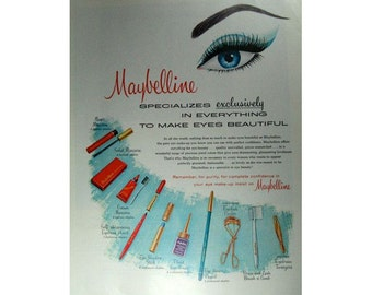 Maybelline Mad Men Era Vintage Advertising Wall Art Home Decor E103
