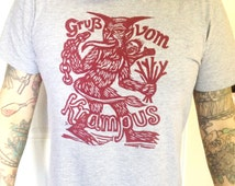 Krampus T-Shirt, Greetings from Krampus Holiday T-Shirt Limited Time Only, Small to XXL SALE