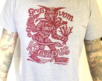 Krampus Shirt, Greetings from Krampus Holiday T-Shirt, Krampus Christmas T-shirt