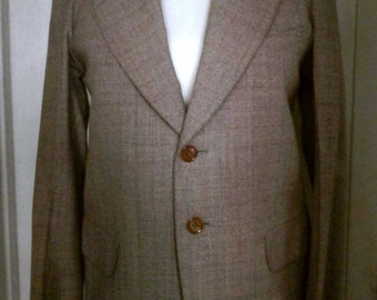 Vintage 40's Harris Tweed Norfolk Jacket, Scottish Wool, English Tailored, Well Made, Lined, Size Small