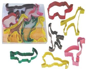 Safari Animal Cookie Cutters 6 Piece set