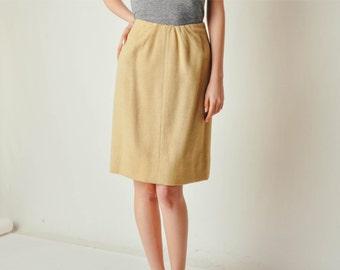 Vintage Camel Hair Skirt