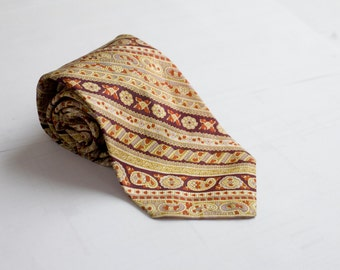 Men's Necktie / Vintage Patterned Tie by Lacrosse