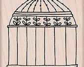 Stamp Hero Arts Wood Rubber Bird Cage - Kitsnbitscraps