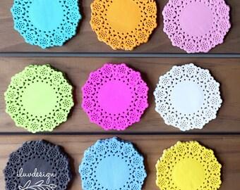Mini Doily • Paper Lace Doilies • Doodlebug Mini Doilies (75/Pkg) Paper Doily • Color Paper Doily
