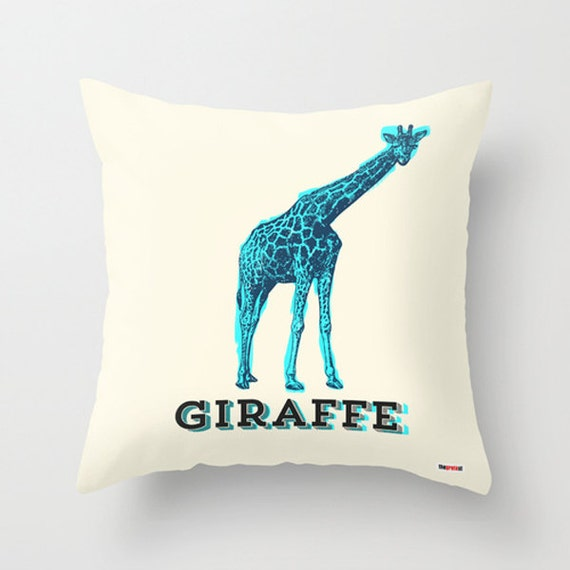 Giraffe Decorative Pillow : Items similar to Pillow - Decorative throw pillows - Giraffe Pillow cover - Antique pillow ...
