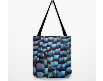 Blue Jay Bag Natural History Blue Feathers Wings Nature Bag Woodland Forest Decor Nature Print