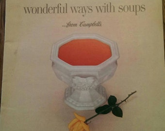 1960 Campbell's Soup  Cooking Leaflet Advertising Promo