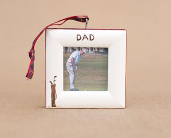 golf bag ornament with option to personalize