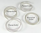 Droplet Wire Variety pack 1 ft of each 14,12,10 gauge Droplet and 1 ft half droplet 10 gauge Sterling Silver